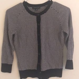 Ann Taylor black and white cardigan